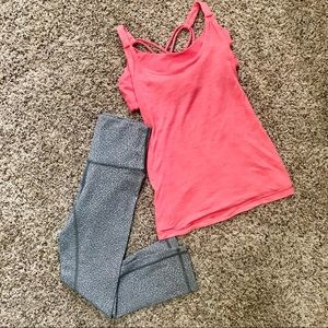 NEW Pink Lululemon Workout Tank Top & Built in Bra